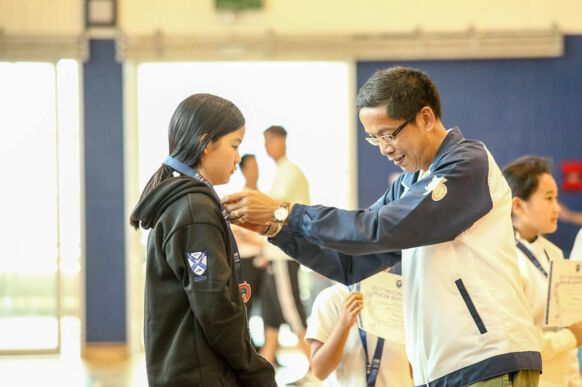 NIST Falcons Fencing Club - Tem Taepaisitphongse - Bronze Medalist in Under 12s